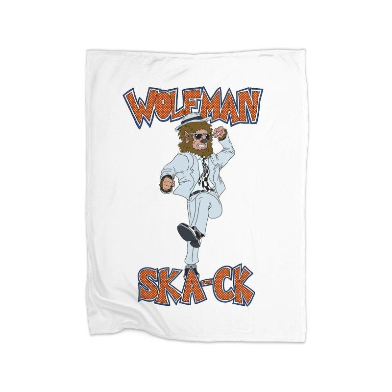Wolfman Ska-ck Home Blanket by JuiceOne's Artist Shop