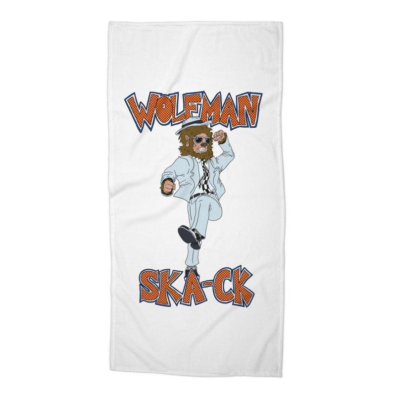 Wolfman Ska-ck Accessories Beach Towel by JuiceOne's Artist Shop