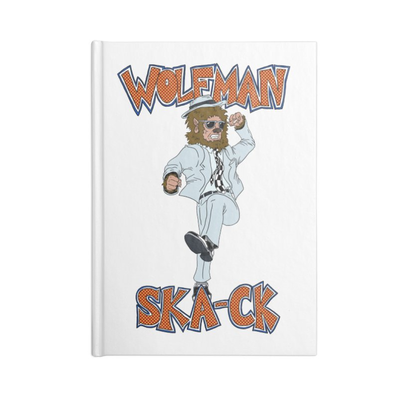 Wolfman Ska-ck Accessories Notebook by JuiceOne's Artist Shop