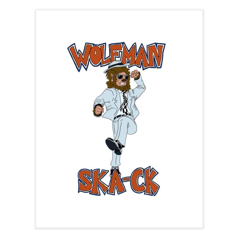 Wolfman Ska-ck Home Fine Art Print by JuiceOne's Artist Shop