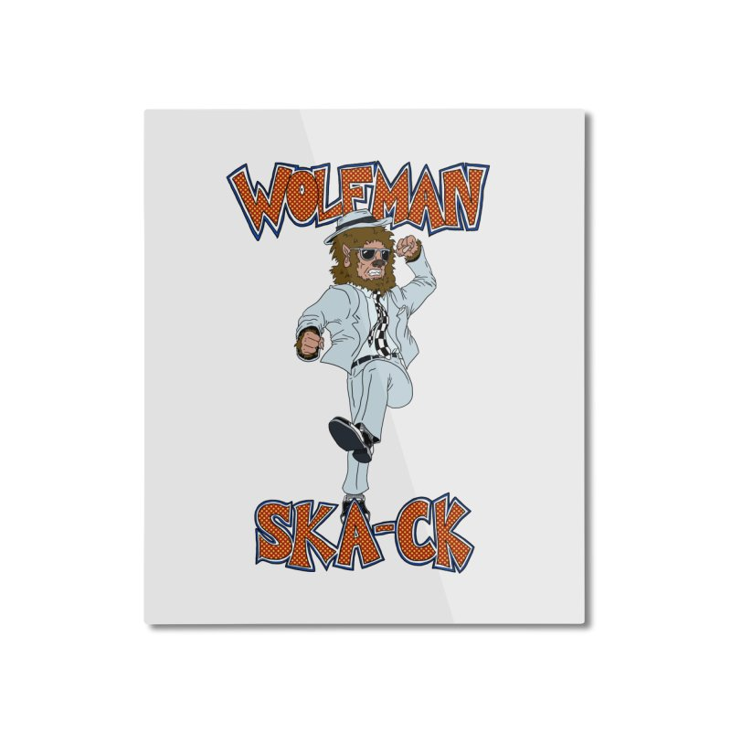 Wolfman Ska-ck Home Mounted Aluminum Print by JuiceOne's Artist Shop