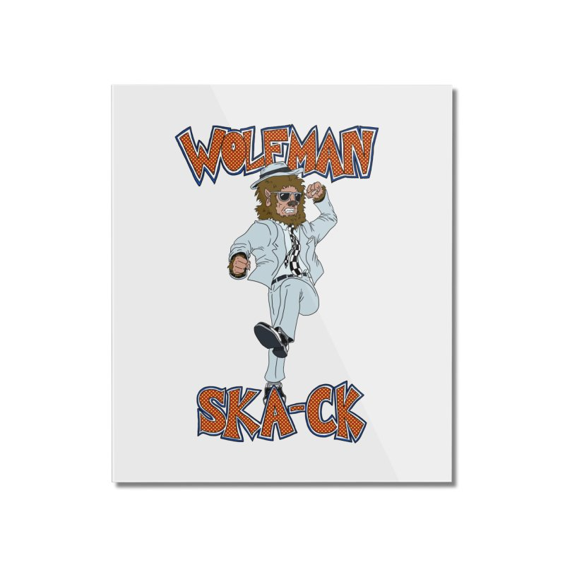 Wolfman Ska-ck Home Mounted Acrylic Print by JuiceOne's Artist Shop