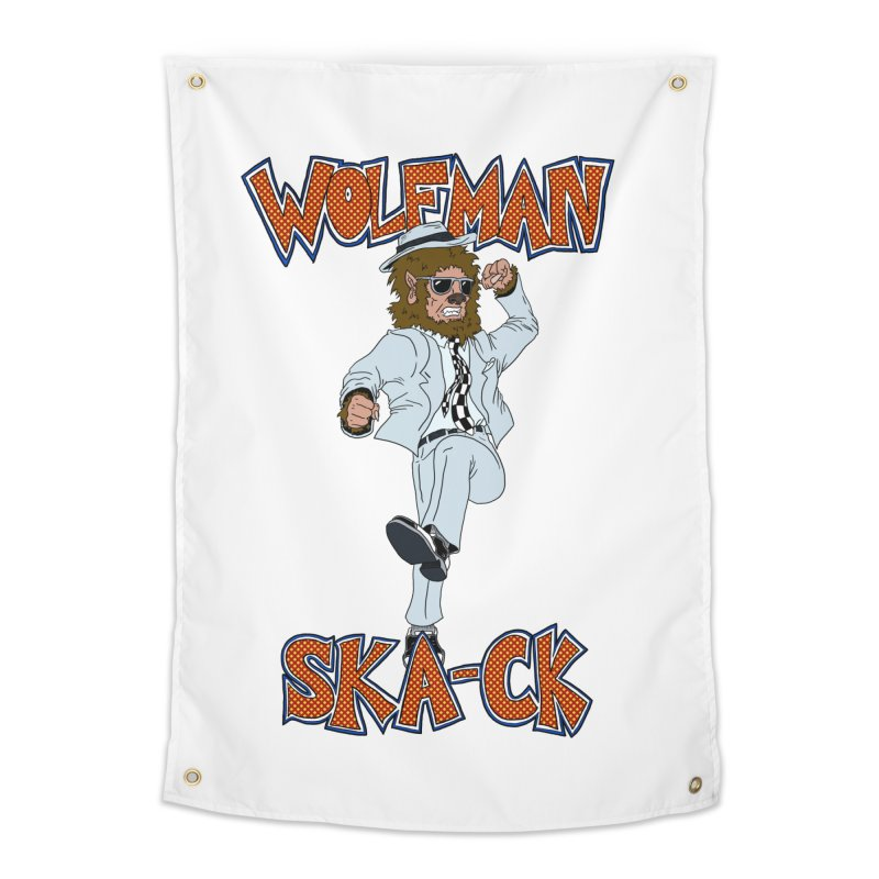 Wolfman Ska-ck Home Tapestry by JuiceOne's Artist Shop