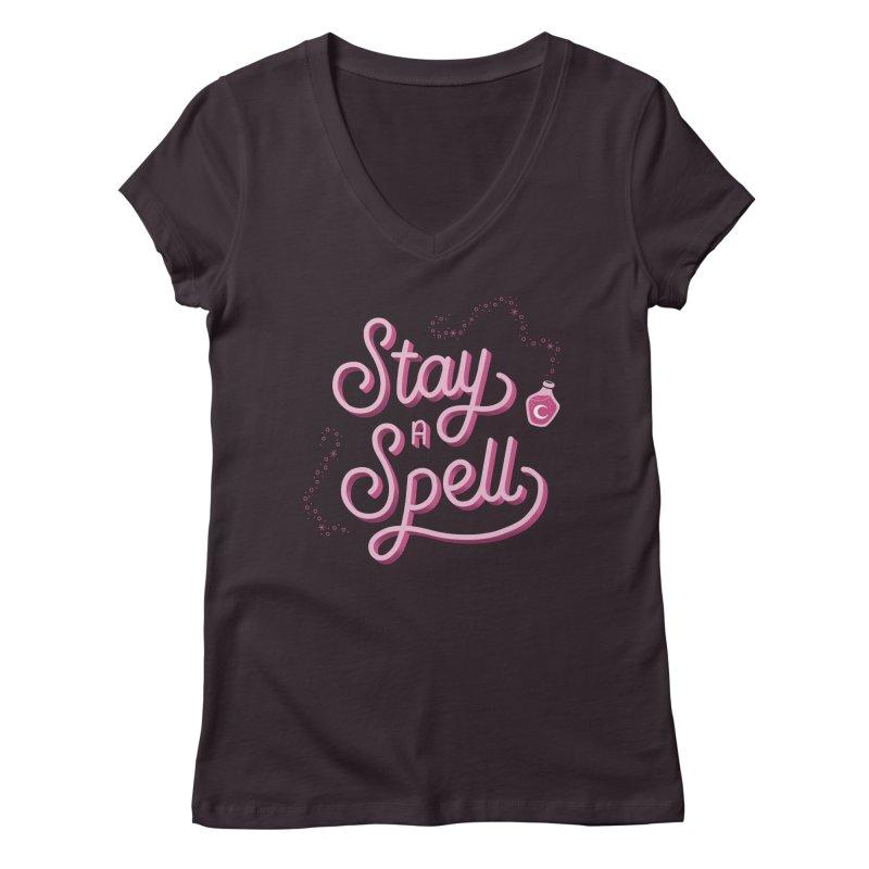 Stay a Spell Logo Women's V-Neck by Juliette Cross's Shop