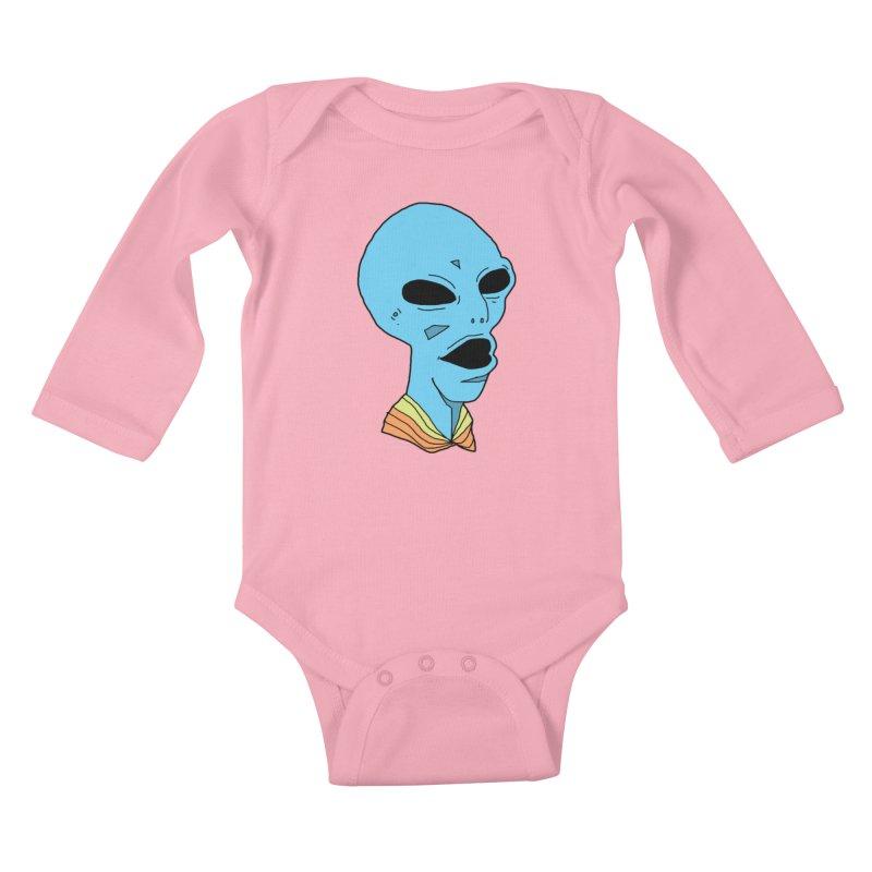 Alien Kids Baby Longsleeve Bodysuit by Jumo