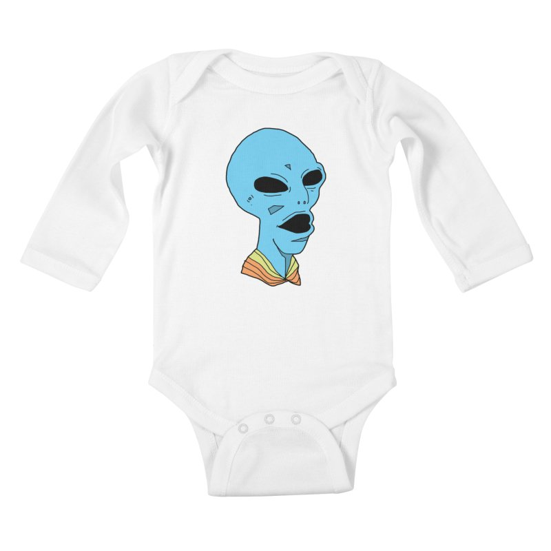 Alien Kids Baby Longsleeve Bodysuit by Jumo