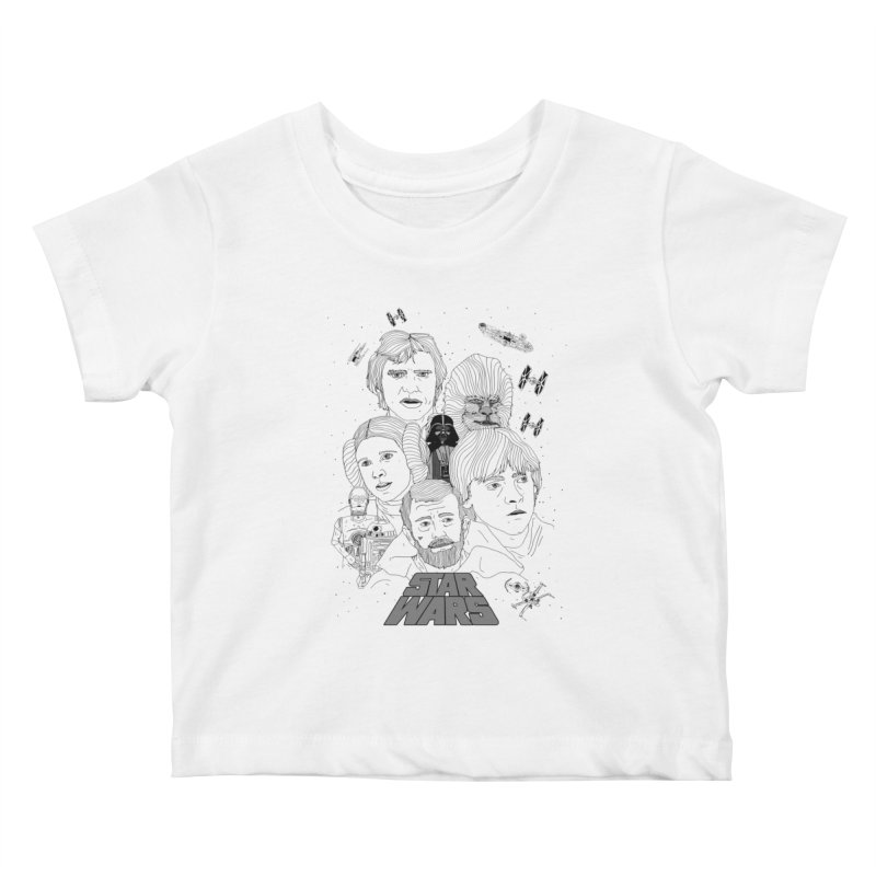 A New Hope Kids Baby T-Shirt by Jumo
