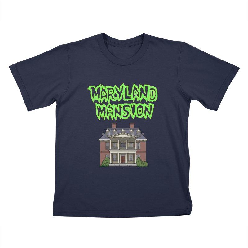 Maryland Mansion Kids T-Shirt by The Strange Pope's Stuff-Shack