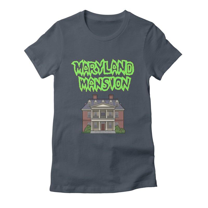 Maryland Mansion Women's T-Shirt by The Strange Pope's Stuff-Shack