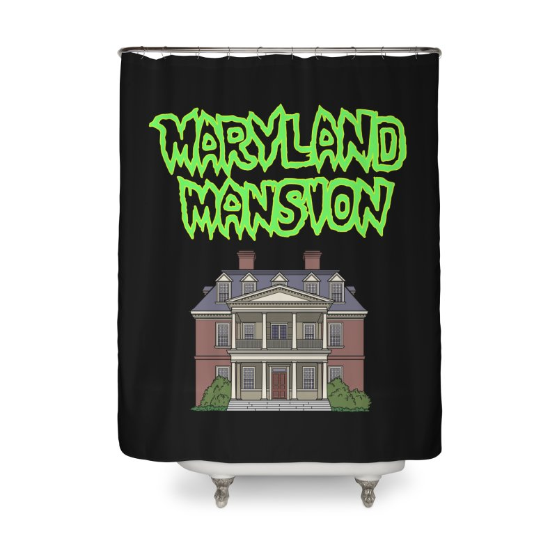 Maryland Mansion Home Shower Curtain by The Strange Pope's Stuff-Shack