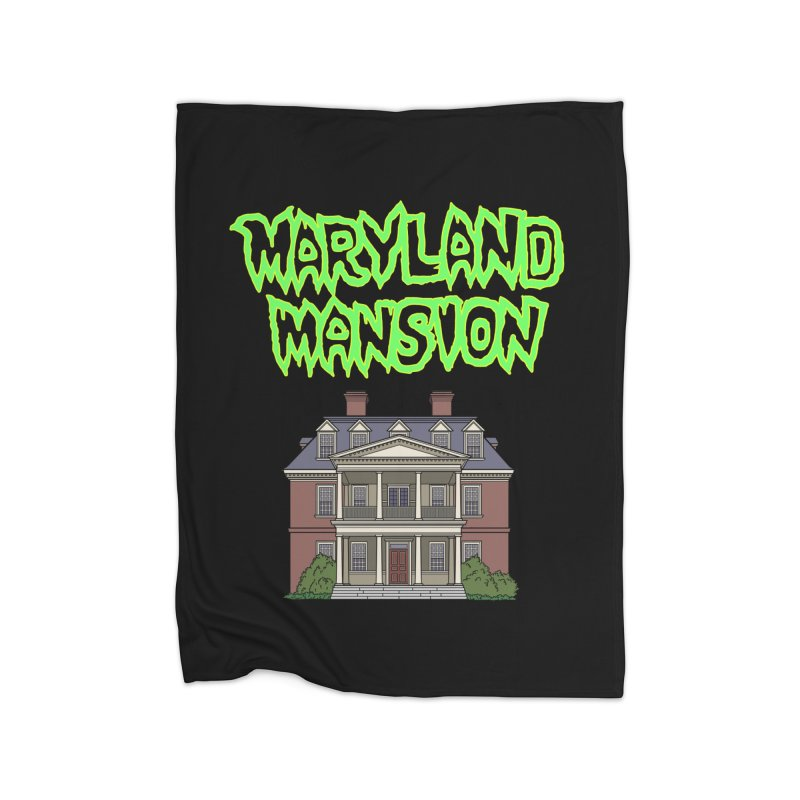 Maryland Mansion Home Blanket by The Strange Pope's Stuff-Shack