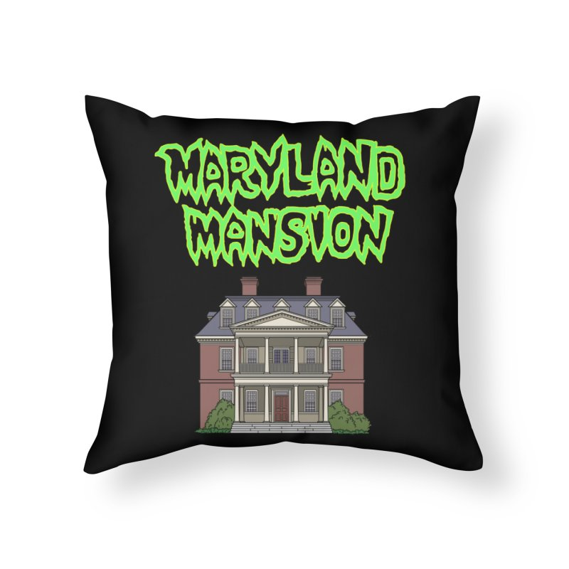 Maryland Mansion Home Throw Pillow by The Strange Pope's Stuff-Shack