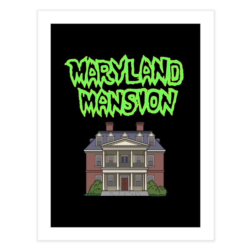 Maryland Mansion Home Fine Art Print by The Strange Pope's Stuff-Shack