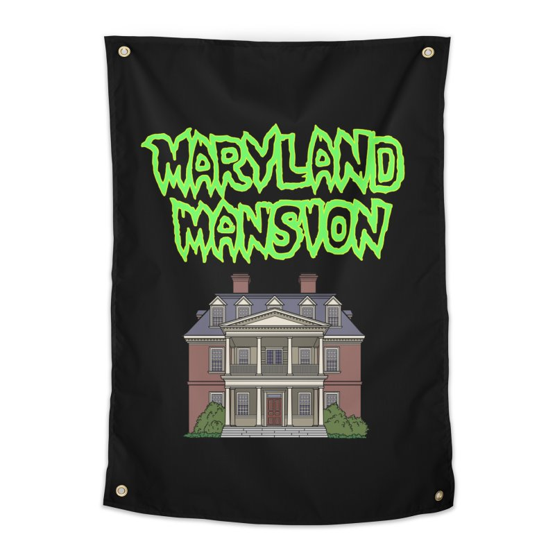 Maryland Mansion Home Tapestry by The Strange Pope's Stuff-Shack