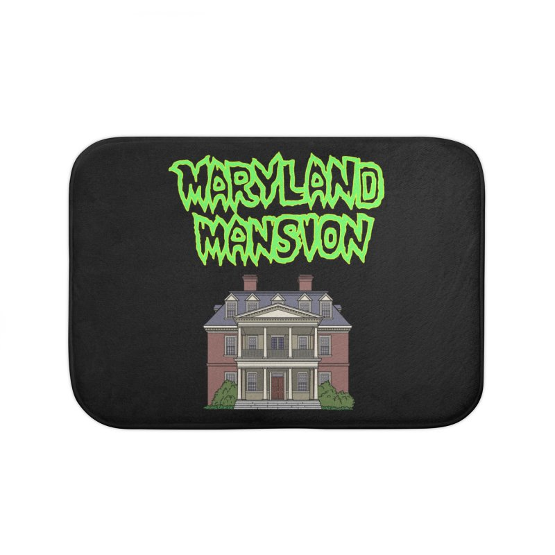 Maryland Mansion Home Bath Mat by The Strange Pope's Stuff-Shack