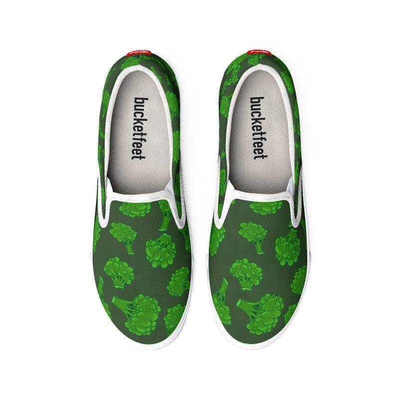 Brocolli Lovers Unite! Women's Shoes by The Strange Pope's Stuff-Shack