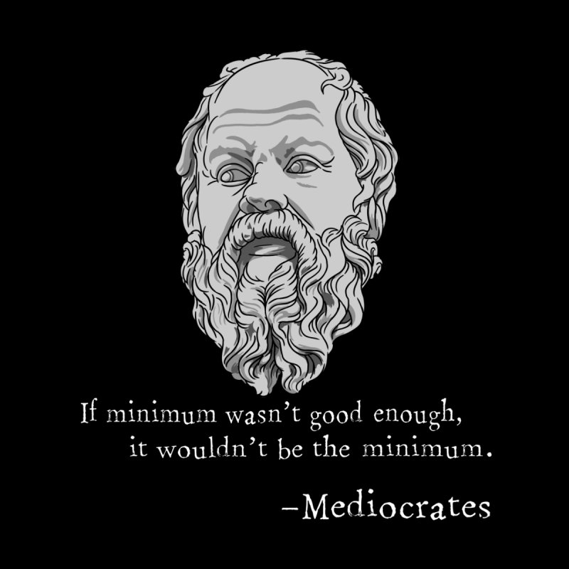 Mediocrates - If minimum wasn't good enough... Home Blanket by The Strange Pope's Stuff-Shack