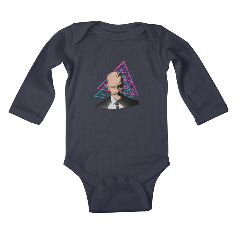 Head Room #1 Kids Baby Longsleeve Bodysuit by The Strange Pope's Stuff-Shack