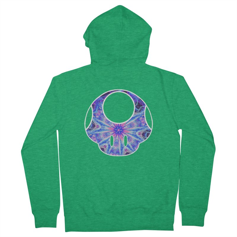 Psychedelic Power-Up Women's Zip-Up Hoody by The Strange Pope's Stuff-Shack