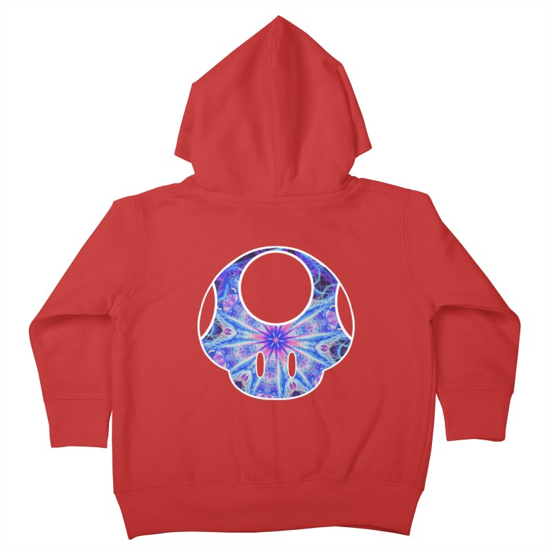 Psychedelic Power-Up Kids Toddler Zip-Up Hoody by The Strange Pope's Stuff-Shack