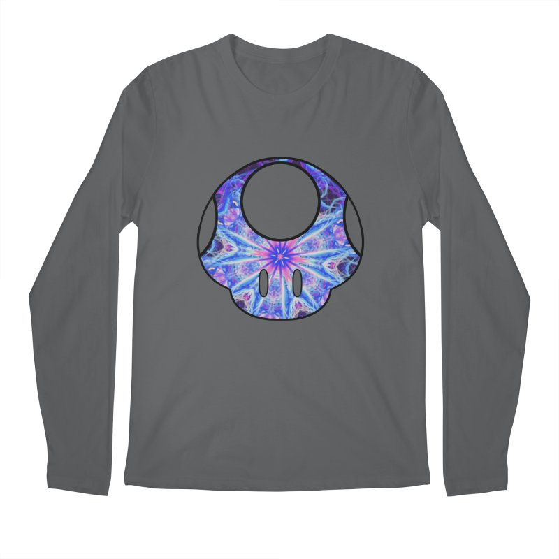 Psychedelic Power-Up (For Light Colors) Men's Longsleeve T-Shirt by The Strange Pope's Stuff-Shack