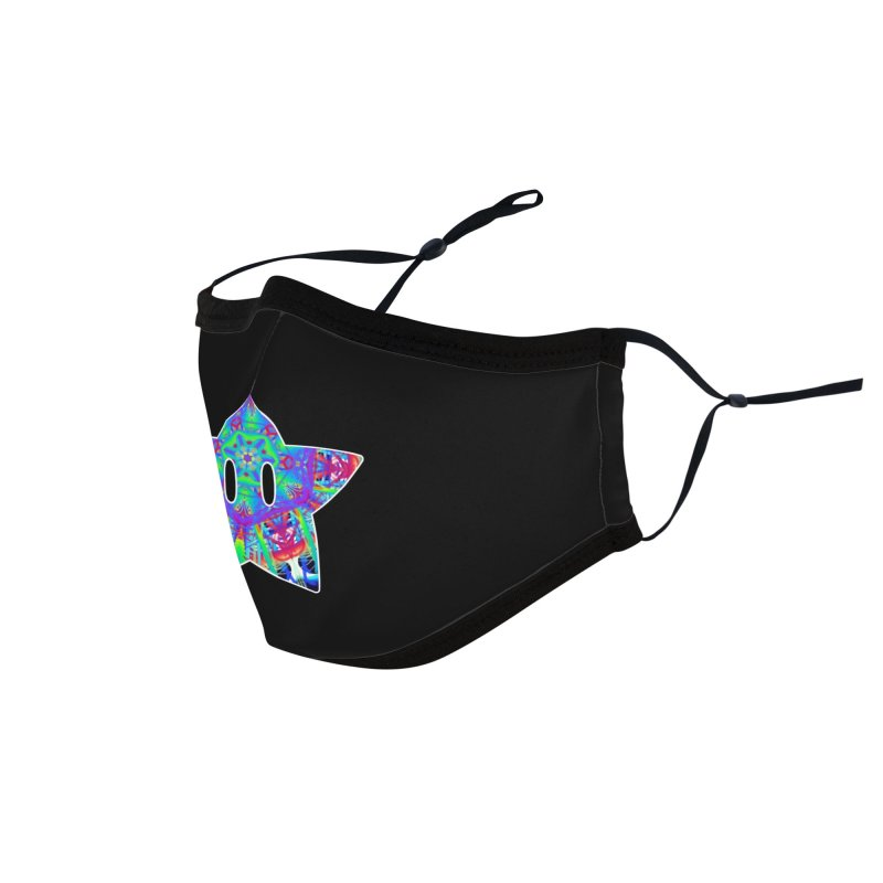 Psychedelic Star Accessories Face Mask by The Strange Pope's Stuff-Shack