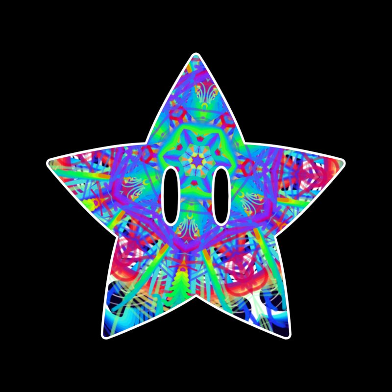 Psychedelic Star Men's T-Shirt by The Strange Pope's Stuff-Shack