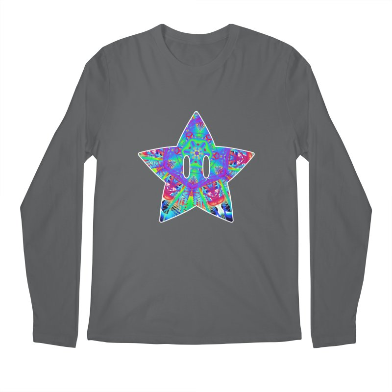 Psychedelic Star Men's Longsleeve T-Shirt by The Strange Pope's Stuff-Shack
