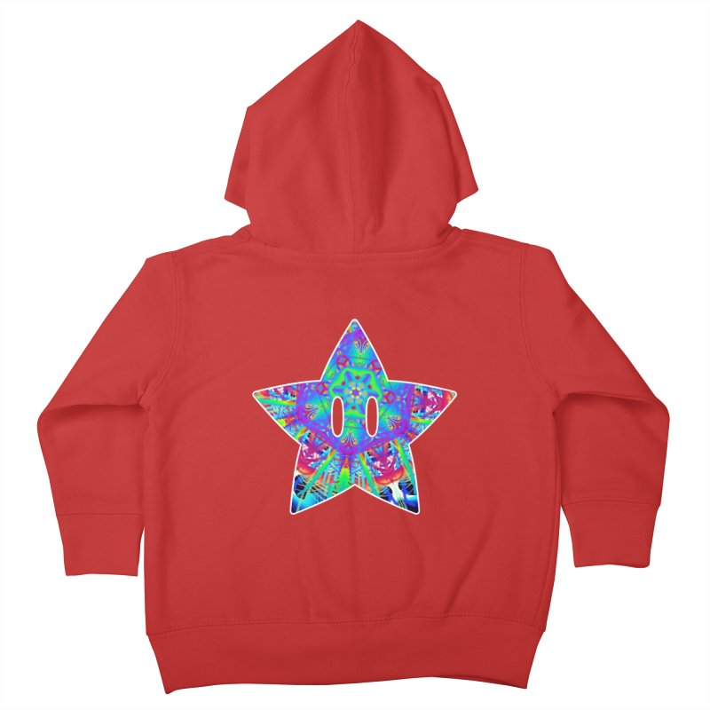 Psychedelic Star Kids Toddler Zip-Up Hoody by The Strange Pope's Stuff-Shack