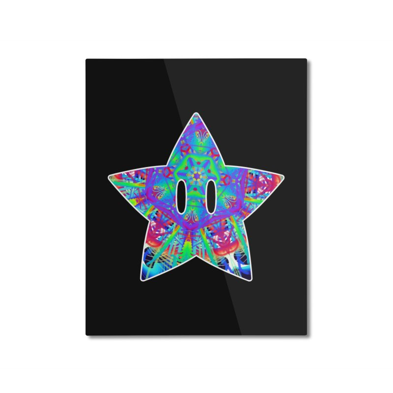 Psychedelic Star Home Mounted Aluminum Print by The Strange Pope's Stuff-Shack