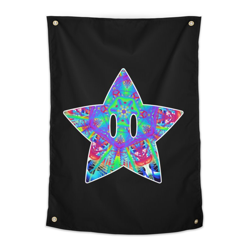 Psychedelic Star Home Tapestry by The Strange Pope's Stuff-Shack