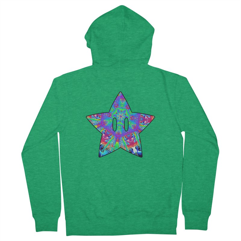Psychedelic Star (For Light Colors) Men's Zip-Up Hoody by The Strange Pope's Stuff-Shack