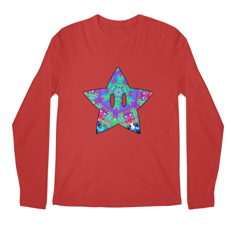 Psychedelic Star (For Light Colors) Men's Longsleeve T-Shirt by The Strange Pope's Stuff-Shack