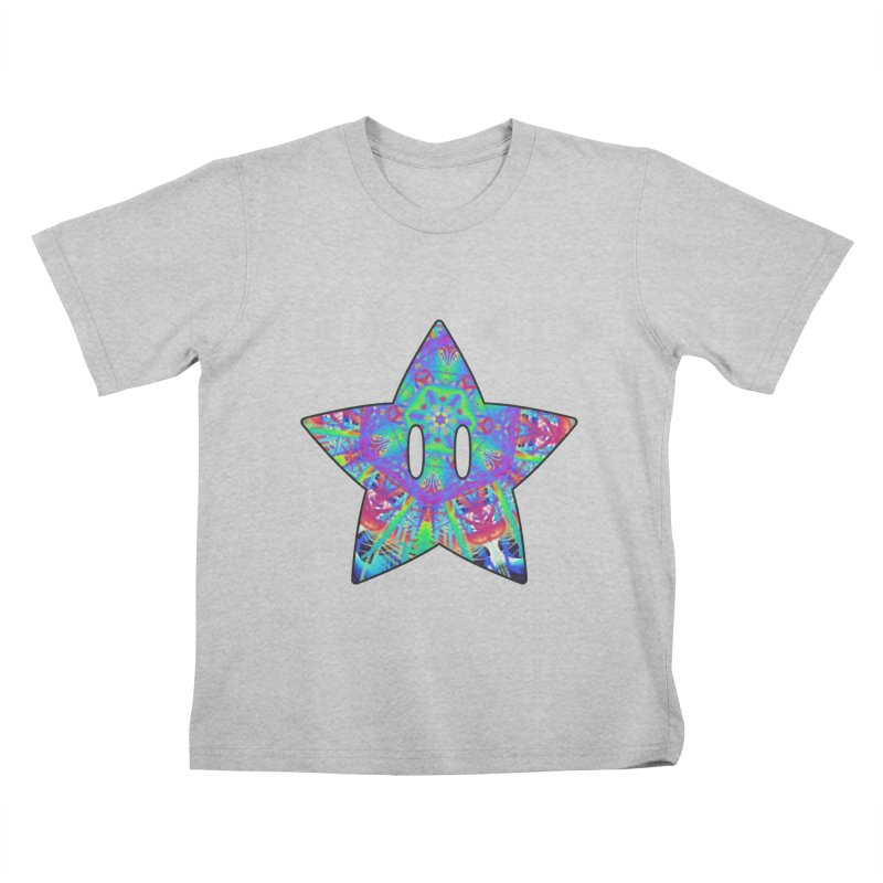 Psychedelic Star (For Light Colors) Kids T-Shirt by The Strange Pope's Stuff-Shack