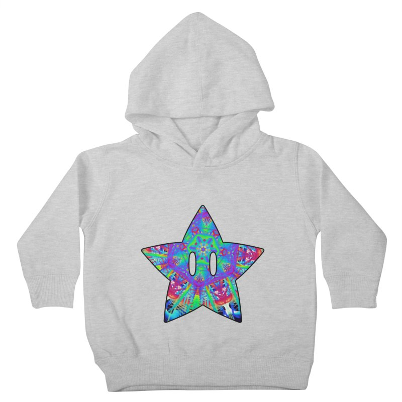 Psychedelic Star (For Light Colors) Kids Toddler Pullover Hoody by The Strange Pope's Stuff-Shack