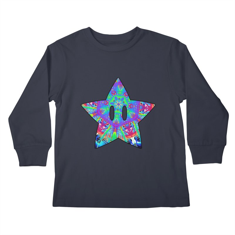 Psychedelic Star (For Light Colors) Kids Longsleeve T-Shirt by The Strange Pope's Stuff-Shack