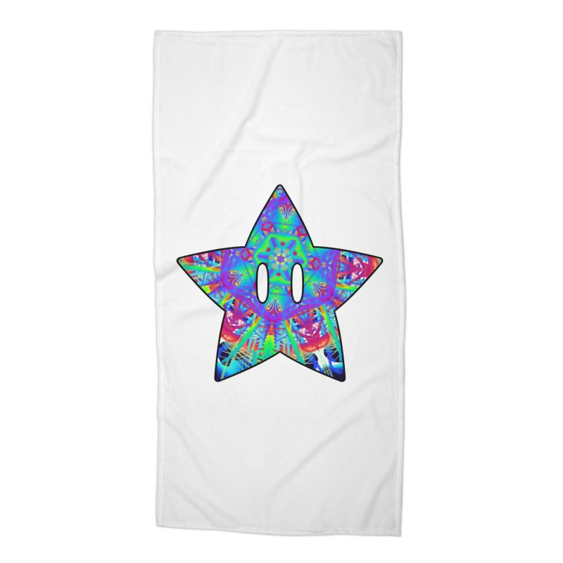 Psychedelic Star (For Light Colors) Accessories Beach Towel by The Strange Pope's Stuff-Shack