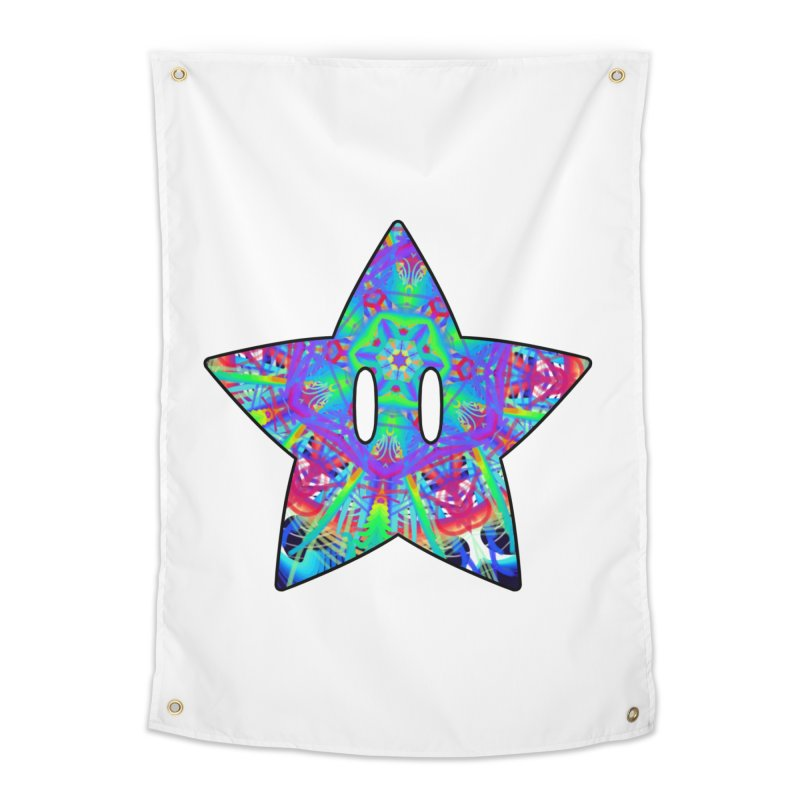 Psychedelic Star (For Light Colors) Home Tapestry by The Strange Pope's Stuff-Shack