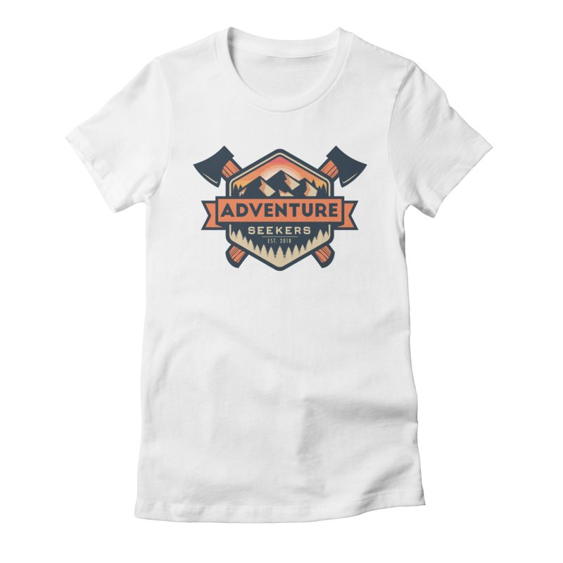 Adventure Seekers Women's Fitted T-Shirt by Justin Oden's Artist Shop