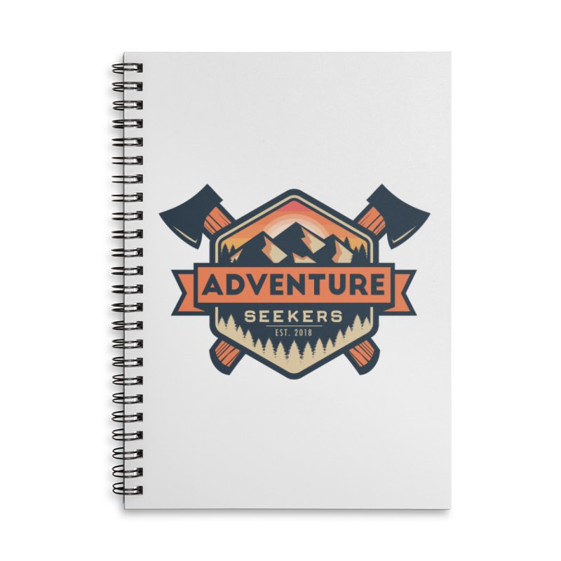 Adventure Seekers Accessories Lined Spiral Notebook by Justin Oden's Artist Shop