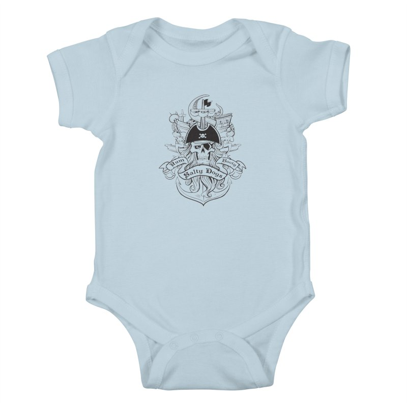 Salty Dogs Kids Baby Bodysuit by Justin Oden's Artist Shop