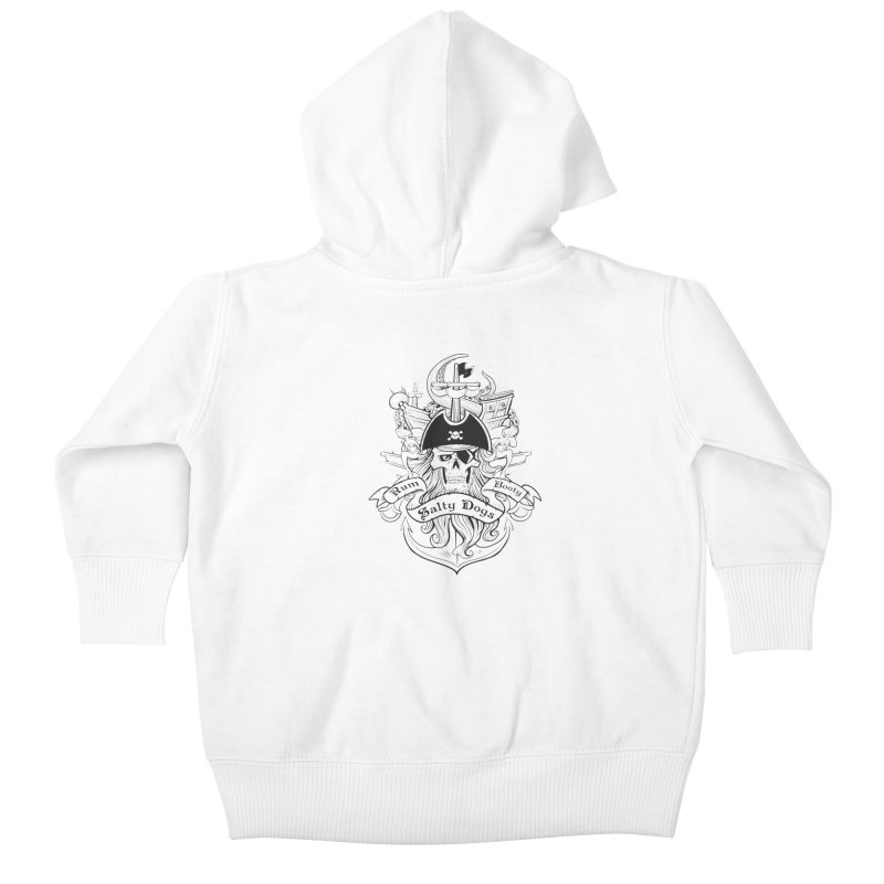 Salty Dogs Kids Baby Zip-Up Hoody by Justin Oden's Artist Shop