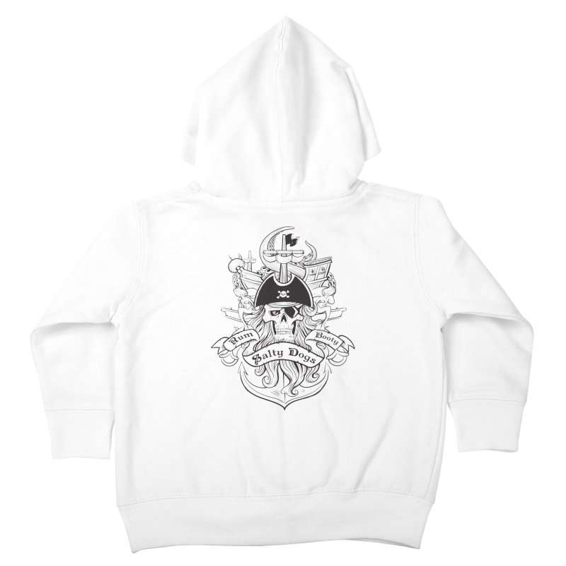 Salty Dogs Kids Toddler Zip-Up Hoody by Justin Oden's Artist Shop