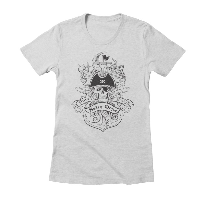 Salty Dogs Women's Fitted T-Shirt by Justin Oden's Artist Shop