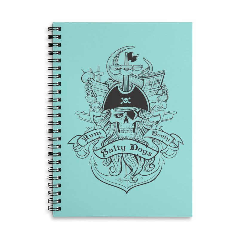 Salty Dogs Accessories Lined Spiral Notebook by Justin Oden's Artist Shop