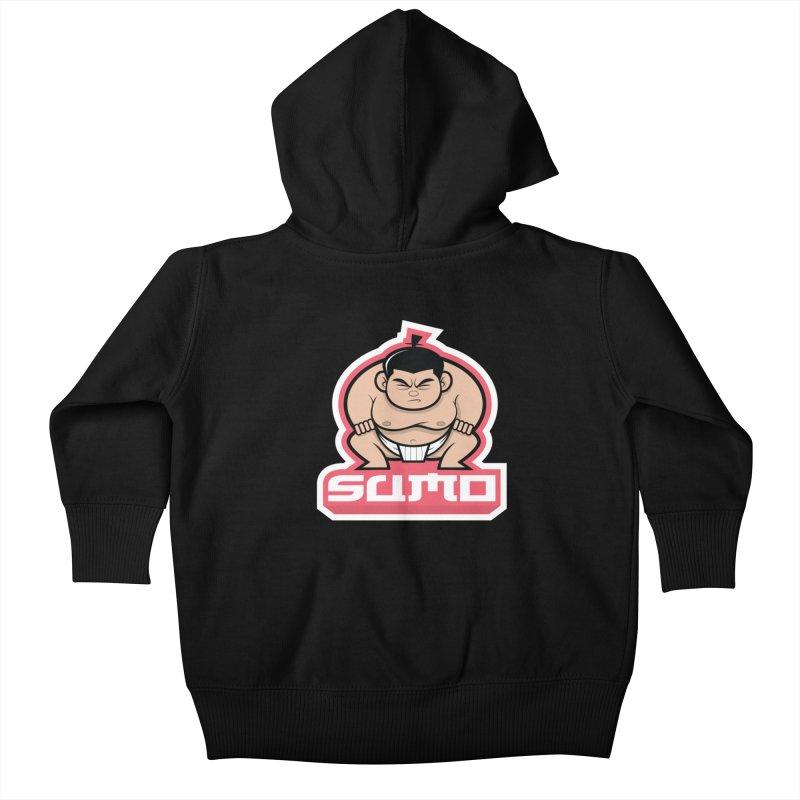 Sumo Kids Baby Zip-Up Hoody by Justin Oden's Artist Shop