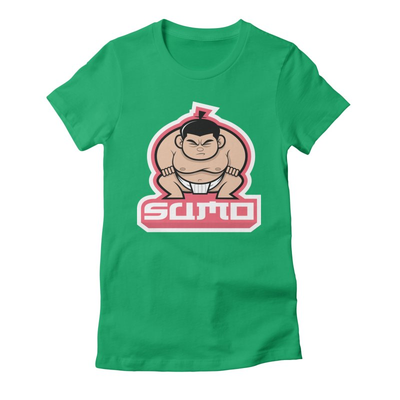 Sumo Women's Fitted T-Shirt by Justin Oden's Artist Shop