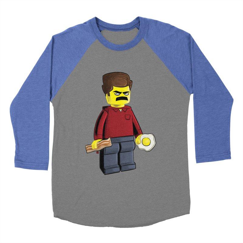 Lego Ron Women's Baseball Triblend Longsleeve T-Shirt by Justin Peterson