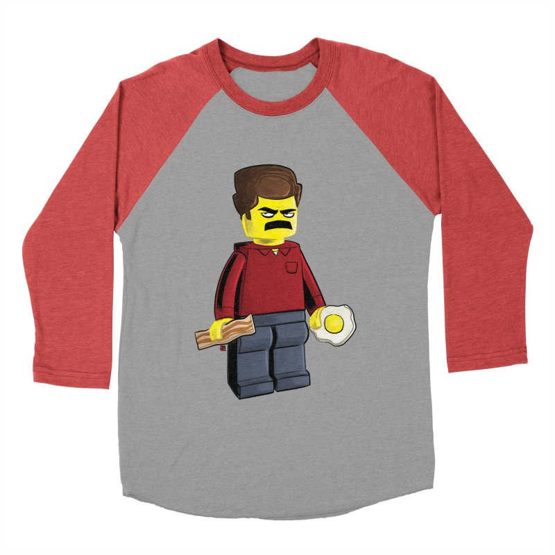 Lego Ron Men's Baseball Triblend Longsleeve T-Shirt by Justin Peterson