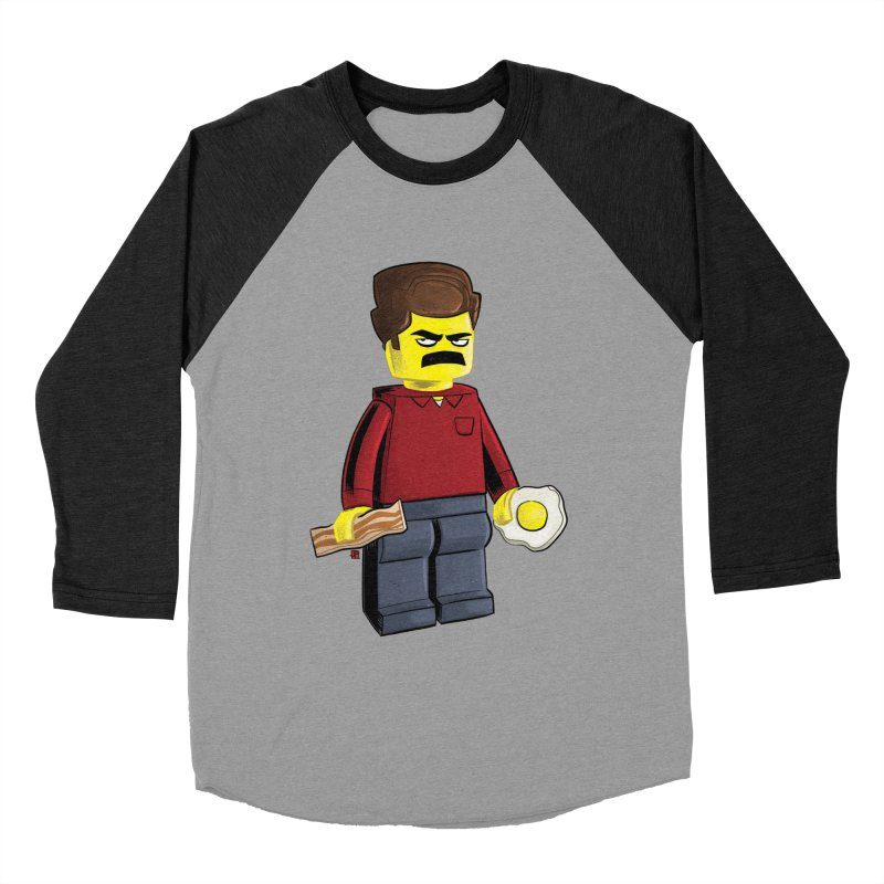 Lego Ron Men's Baseball Triblend Longsleeve T-Shirt by Justin Peterson